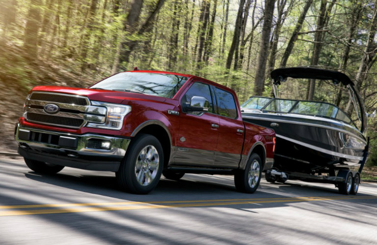 2018-Ford-F-150-diesel-towing-boat-B_o - Kimber Creek Ford