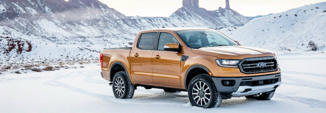 2019 Ford Ranger parked in snow