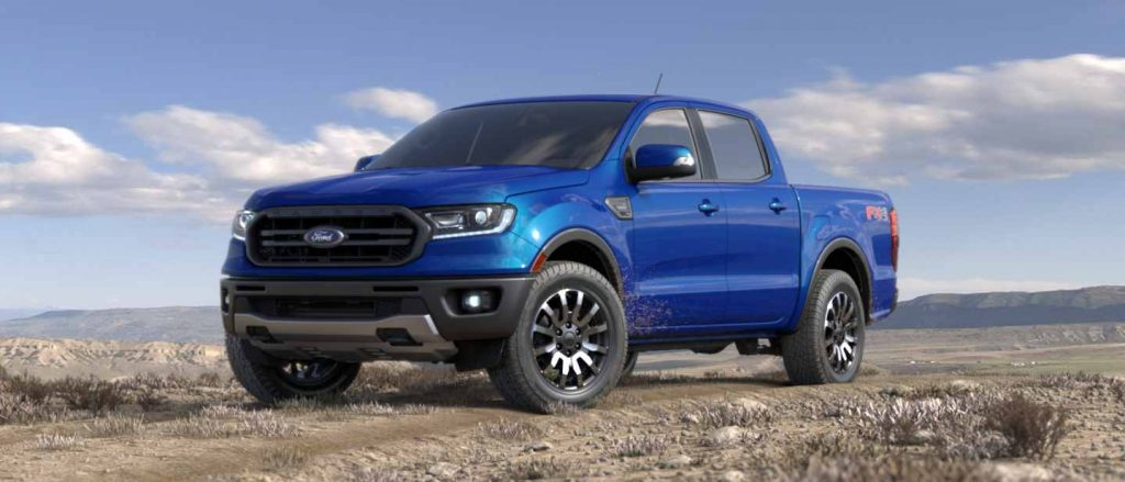 2019 Ford Ranger in Lightning Blue