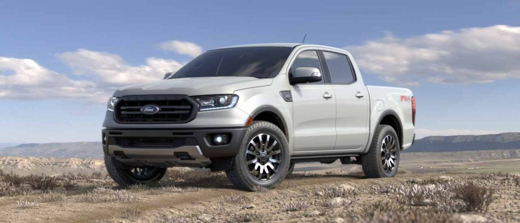 2019 Ford Ranger in White Platinum