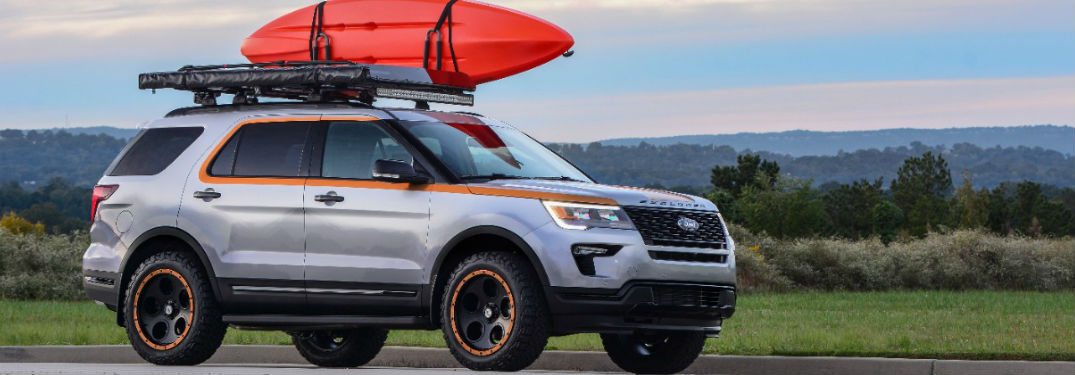 customized Ford Explorer Sport for the 2018 SEMA Show