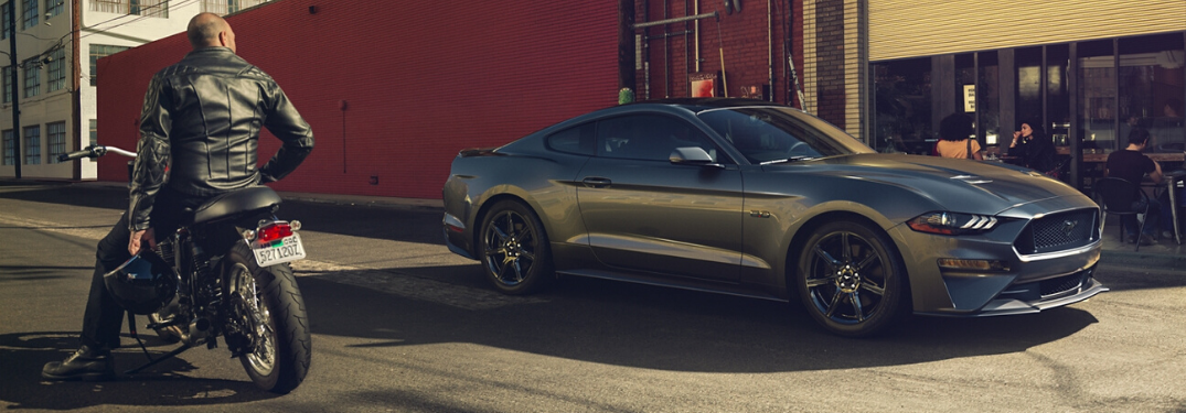 2020 Ford Mustang parked outside