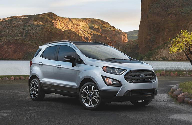 2020 Ford EcoSport from exterior front passenger side in front of lake