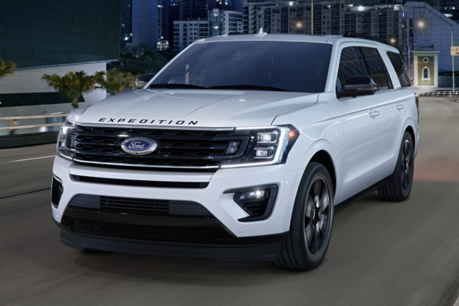 2020 Ford Expedition Stealth Edition from front drivers side