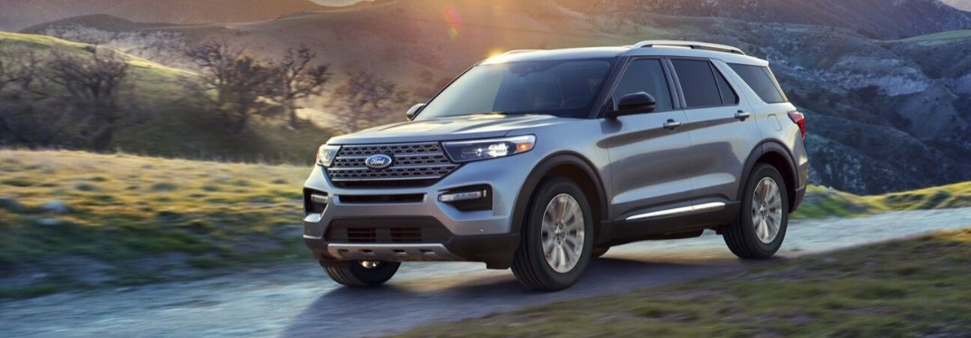 2020 Ford Explorer in hills from exterior front driver side