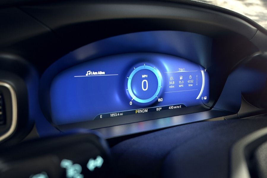 12.3-inch customizable cluster for driving information_o