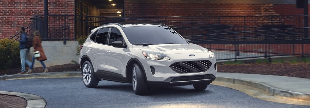 2020 Ford Escape driving around corner
