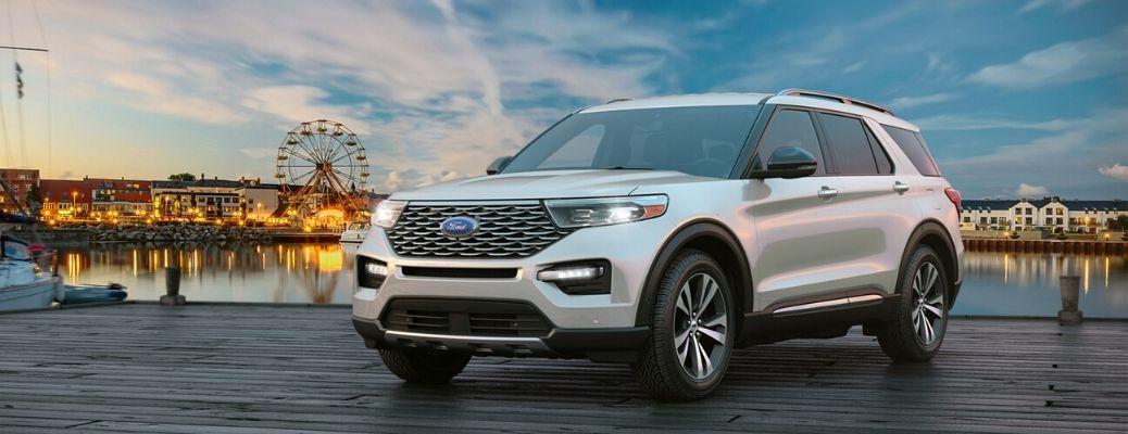 2020 Ford Explorer on a dock