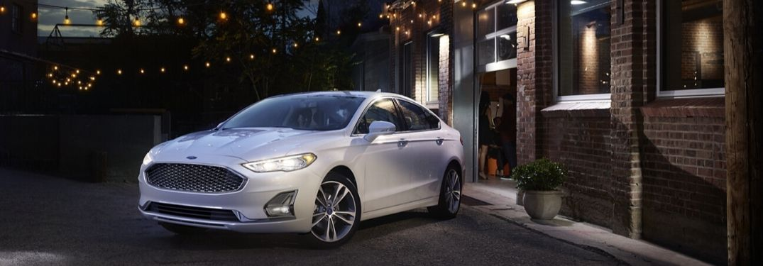 2020 Ford Focus Titanium parked in front of building