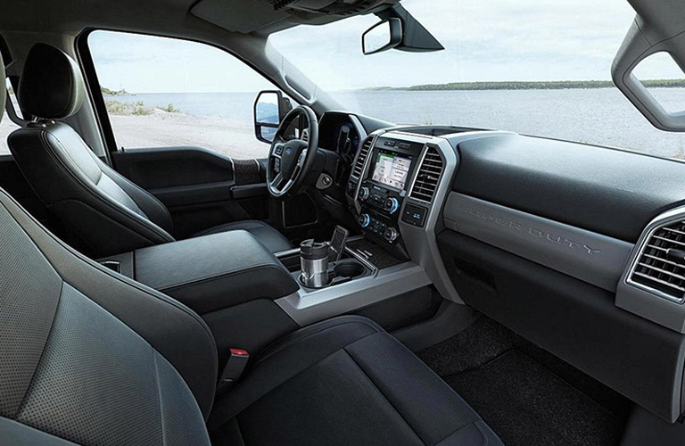 Interior of 2017 Ford f-150