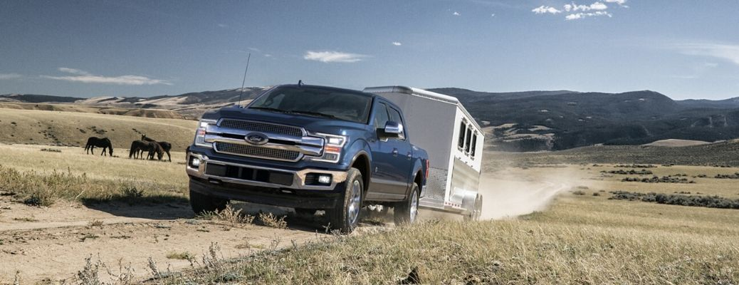 2020 Ford F-150 towing a trailer
