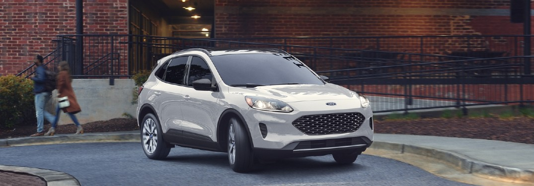 2020 Ford Escape in front of brick building