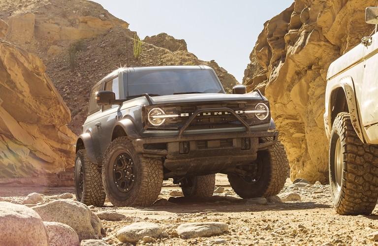 2021 Ford Bronco near rock outcrops