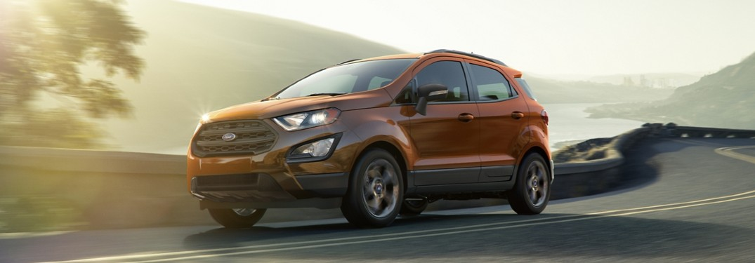 2020 Ford EcoSport driving on highway
