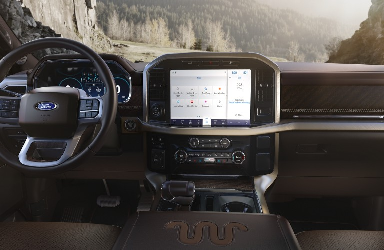 2021 Ford F-150 infotainment display
