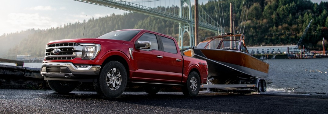 2021 Ford F-150 towing boat