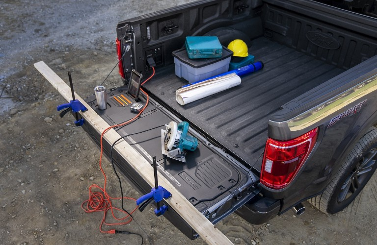 Tailgate work surface in 2021 Ford F-150