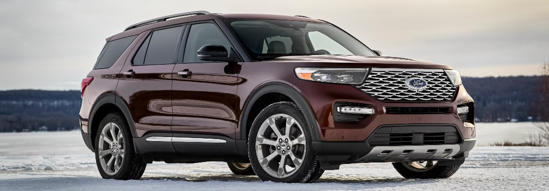 2020 Ford Explorer in snow