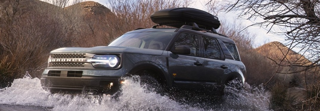 2021 Ford Bronco Sport driving through water
