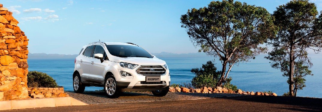 2021 Ford EcoSport in front of beach
