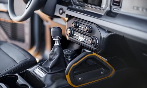 2021 Ford Bronco interior shifter and climate controls