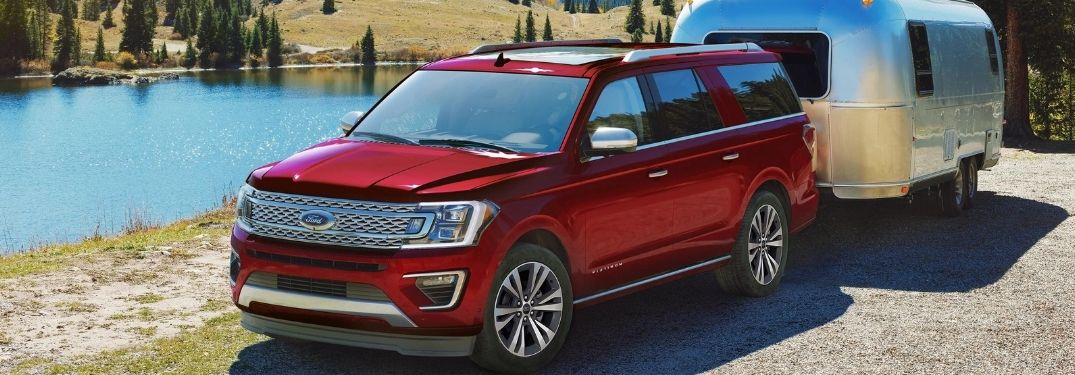 2021 Ford Expedition towing a trailer