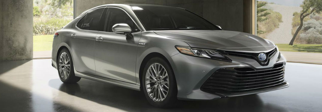 Silver 2018 Toyota Camry front view