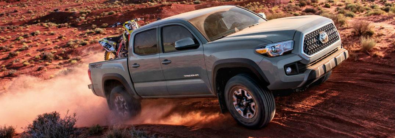 2018 Toyota Tacoma driving through desert