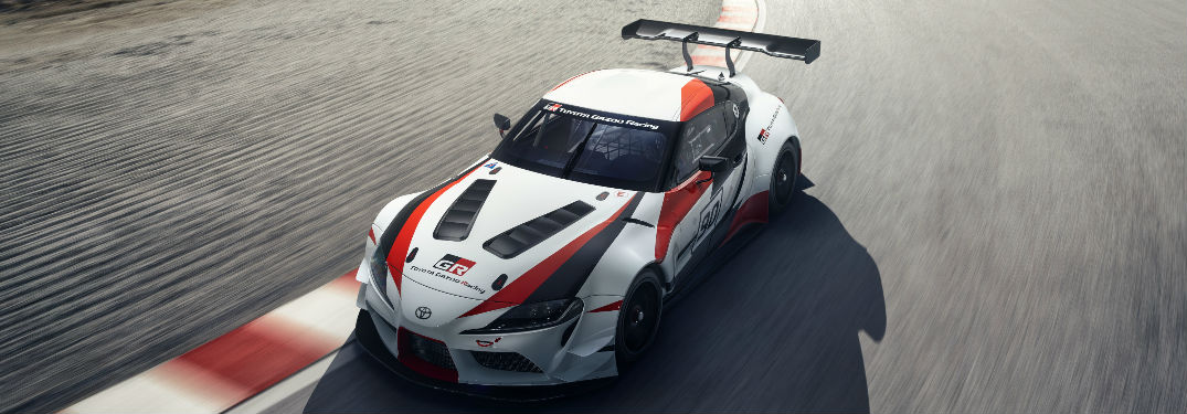 2018 Toyota GR Supra Concept vehicle driving on a track