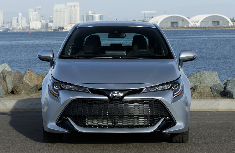 front view of 2019 Toyota Corolla Hatchback parked