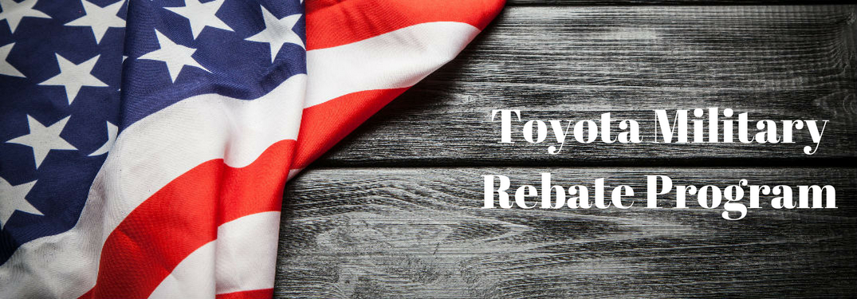 Flag on wooden board, Toyota Military Rebate Program