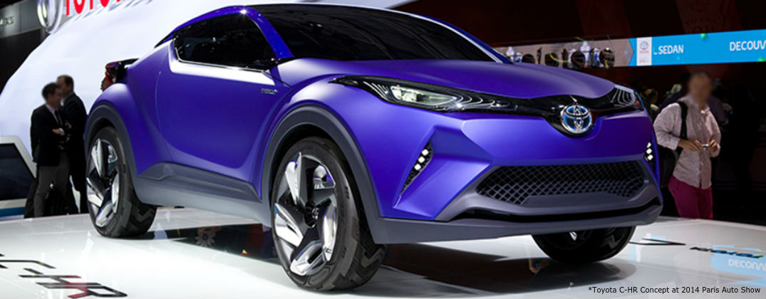 Toyota Reveals a New Toyota C-HR Concept Design at Allan Nott-Lima OH-Toyota C-HR-Cocnepte Design at 2014 Paris Auto Show