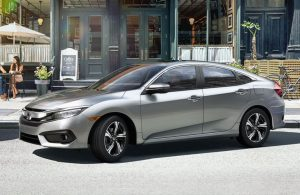 Silver 2017 Honda Civic Sedan parked
