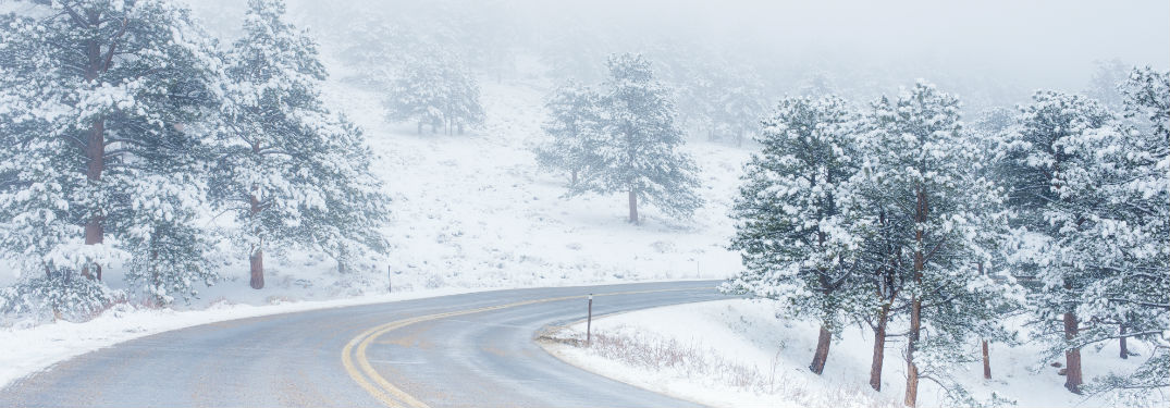 Snowy Road Winter Driving Tips