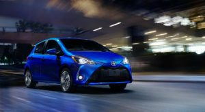2018 Toyota Yaris 5-Door SE in Blue Eclipse Metallic