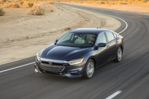 2019 Honda Insight driving on a desert road