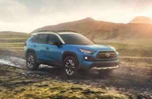 2019 Toyota RAV4 Adventure in Blue Flame with Ice Edge roof