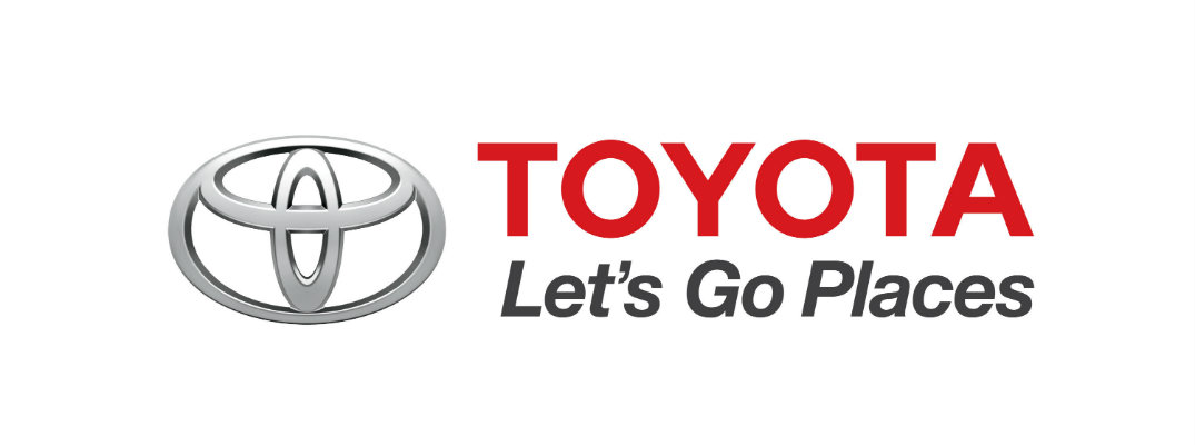 Current Toyota logo and advertising slogan