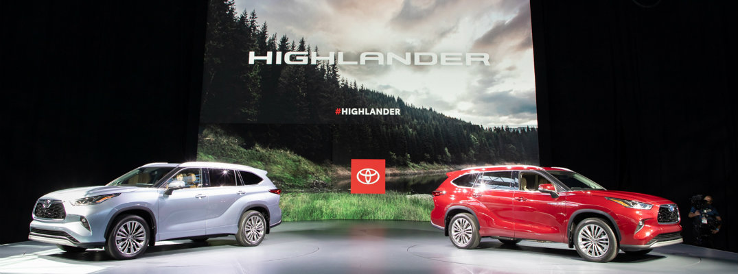 2 2020 Toyota Highlander models at NYAS