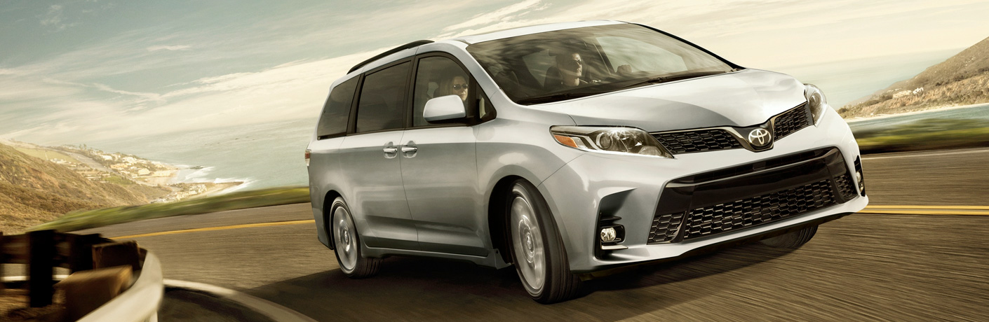 2019 Toyota Sienna driving down a highway