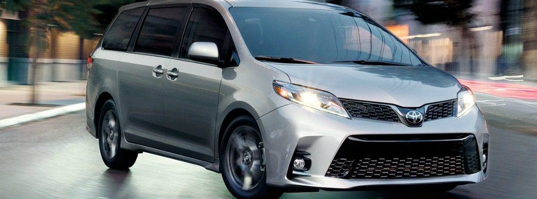 2019 Toyota Sienna in a city