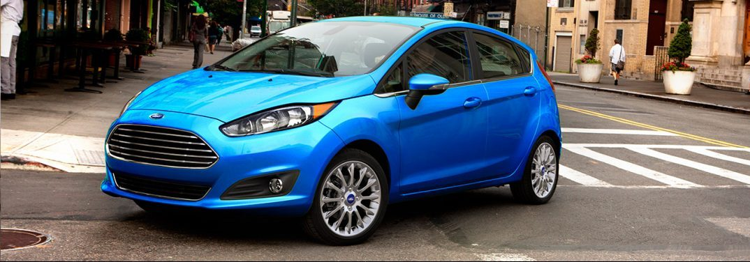 2017 Ford Fiesta EXTERIOR FRONT BLUE