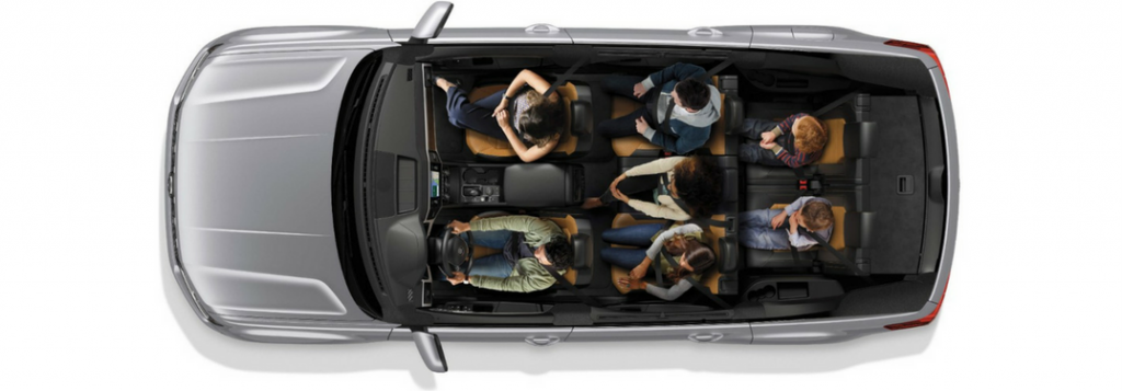 How many passengers does the Volkswagen Atlas seat?