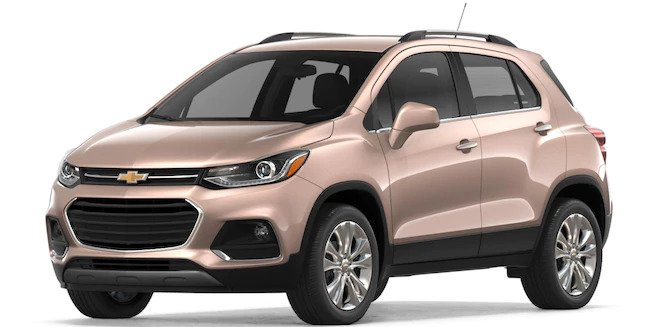 View The 2018 Chevrolet Trax Exterior Color Options