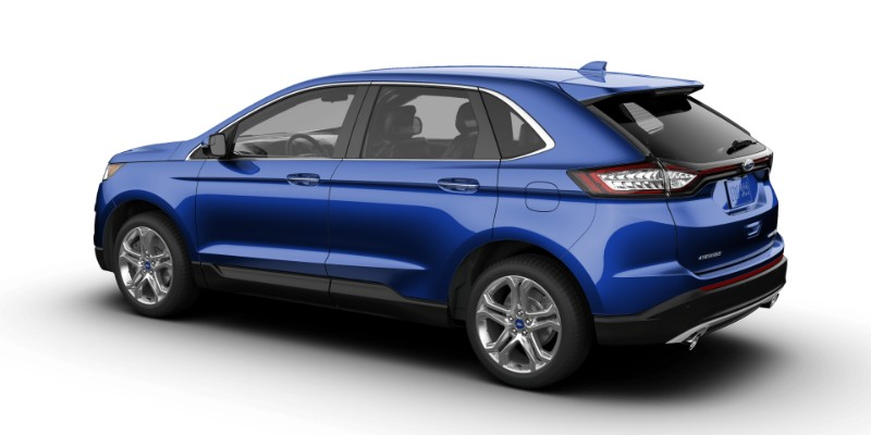 Ford Edge In Lightning Blue