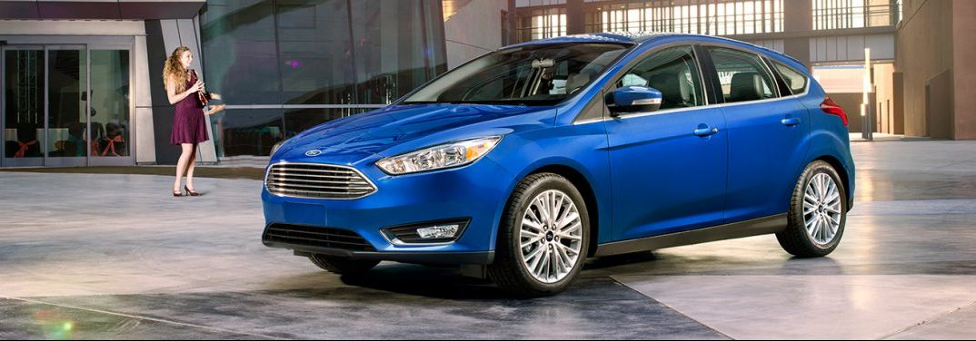 exterior 2018 ford focus in blue
