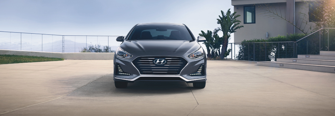 front view of gray 2019 hyundai sonata