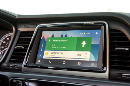 infotainment system of 2019 hyundai sonata with android auto