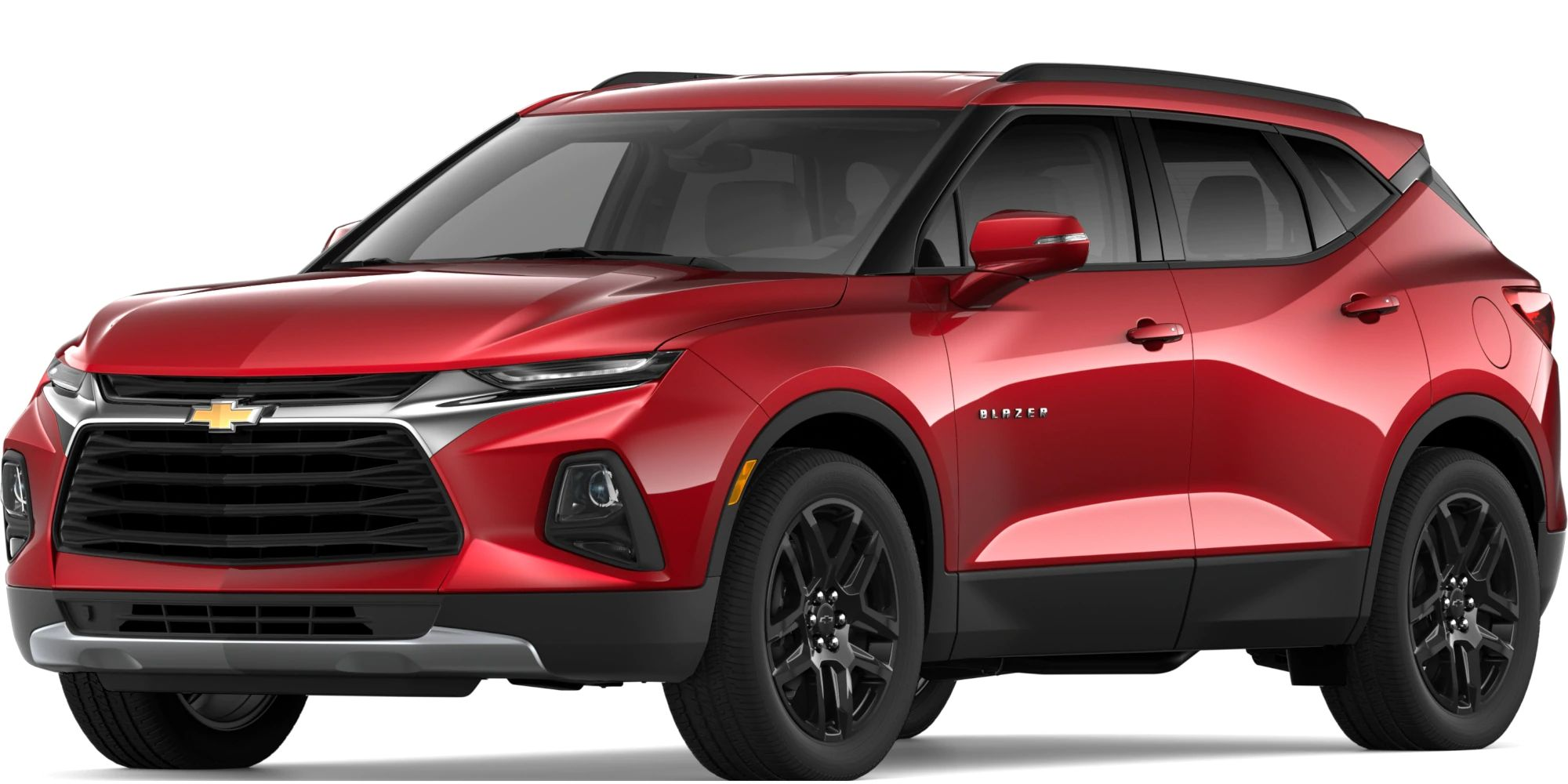 2019 Chevy Blazer Exterior Driver Side Front Profile in Cajun Red Tintcoat