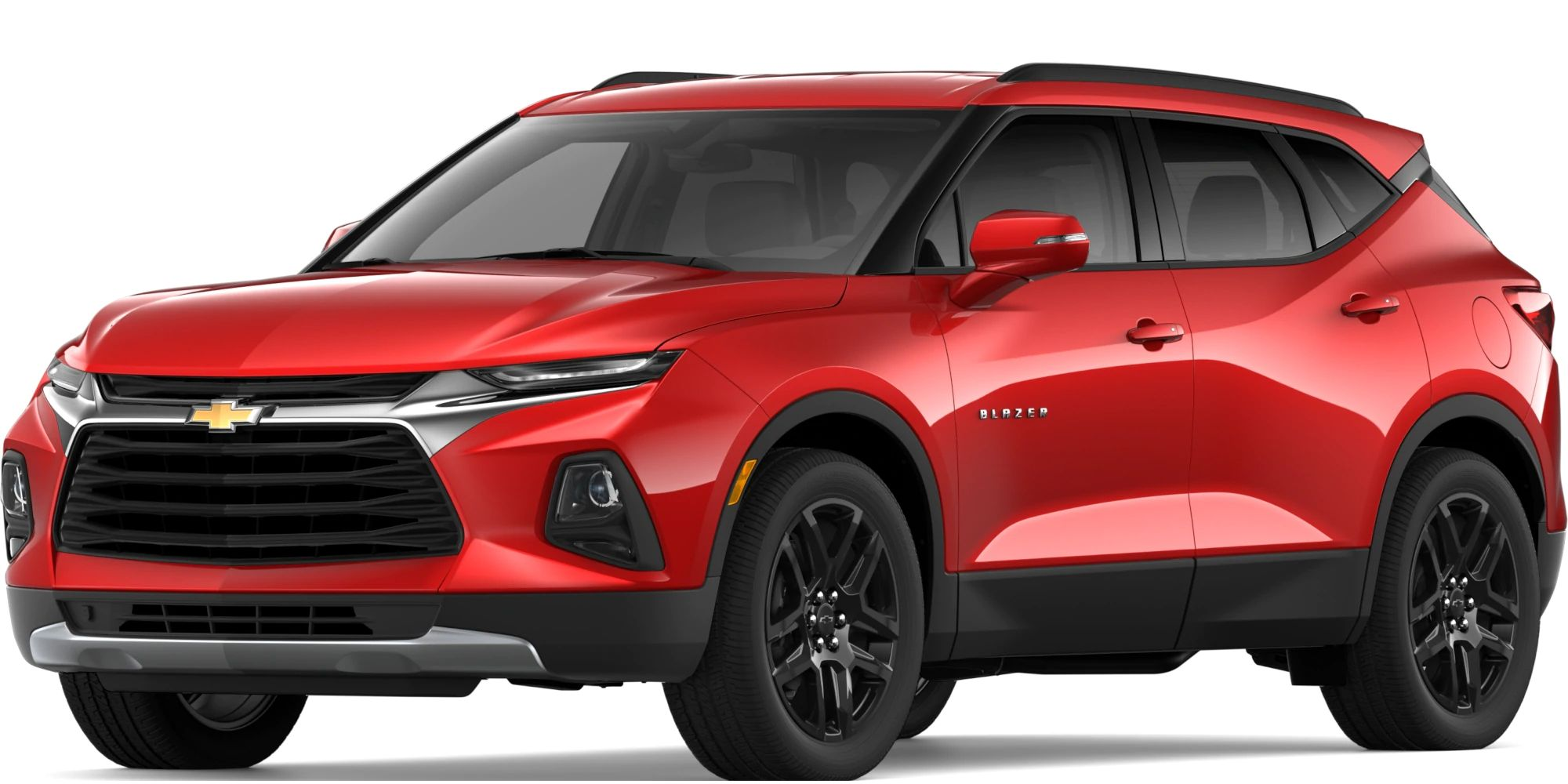 2019 Chevy Blazer Exterior Driver Side Front Profile in Red Hot